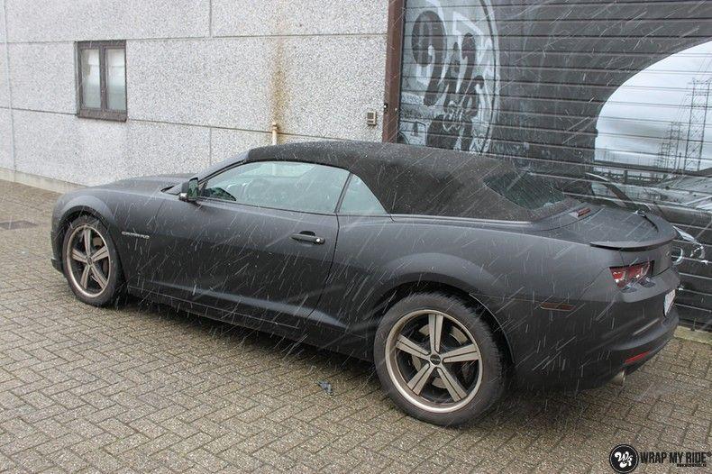 Chevrolet Camaro Matte Deep Black, Carwrapping door Wrapmyride.nu Foto-nr:10759, ©2021