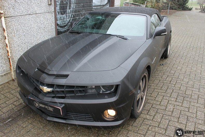 Chevrolet Camaro Matte Deep Black, Carwrapping door Wrapmyride.nu Foto-nr:10756, ©2021