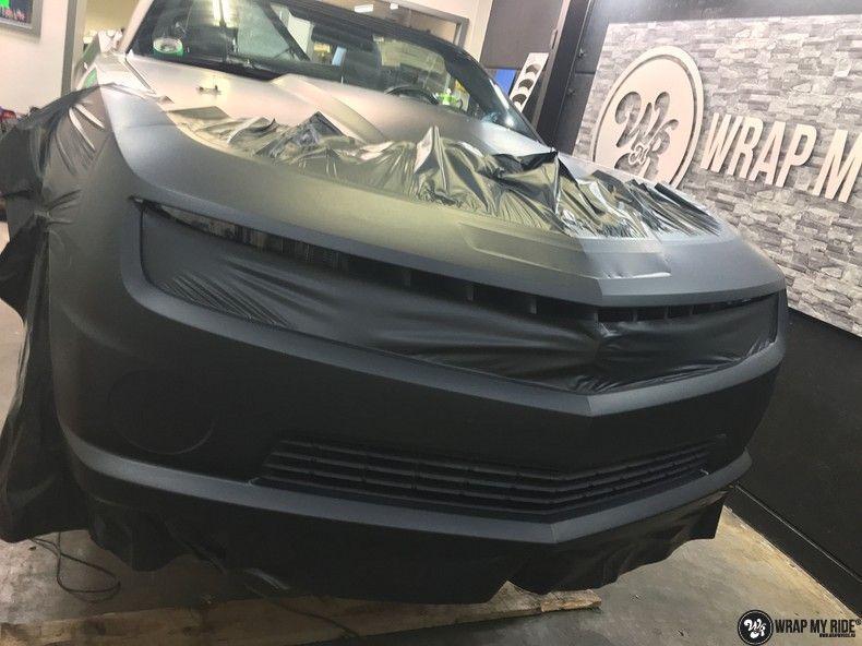 Chevrolet Camaro Matte Deep Black, Carwrapping door Wrapmyride.nu Foto-nr:10773, ©2021