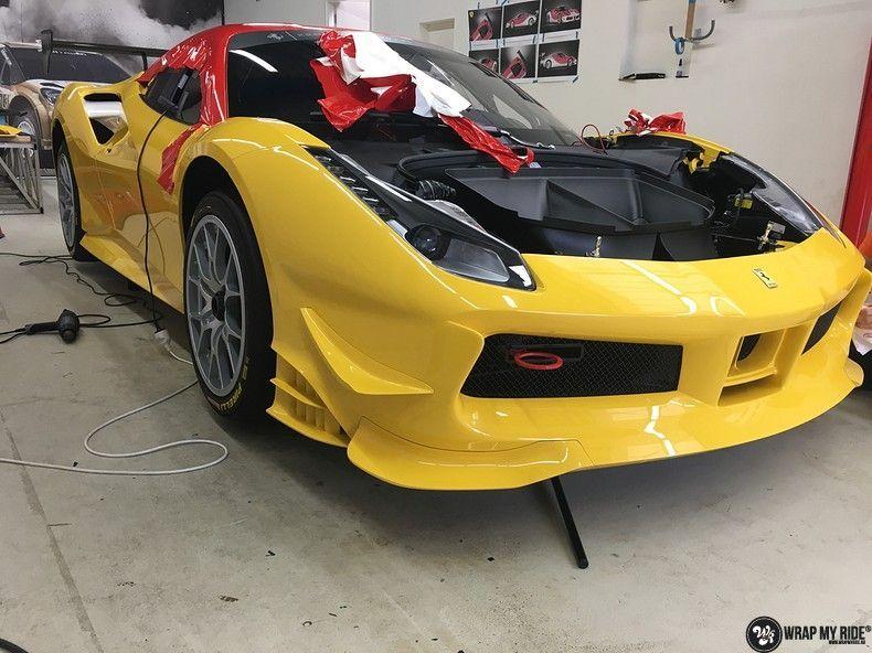Ferrari 488 gtb the challenge wrap, Carwrapping door Wrapmyride.nu Foto-nr:11321, ©2021