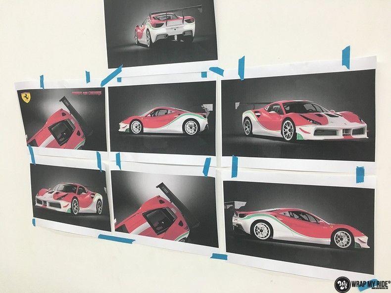 Ferrari 488 gtb the challenge wrap, Carwrapping door Wrapmyride.nu Foto-nr:11314, ©2021