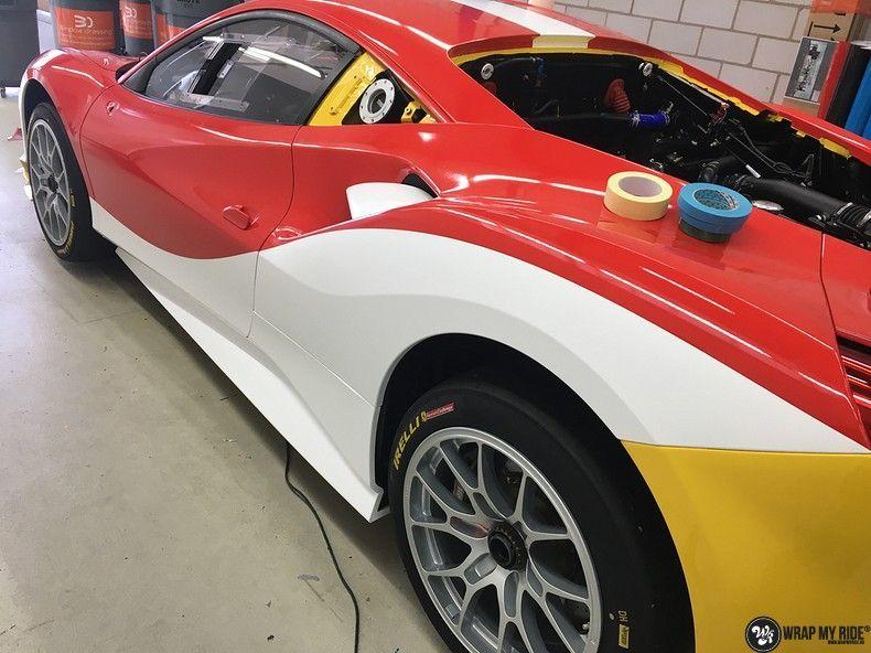 Ferrari 488 gtb the challenge wrap, Carwrapping door Wrapmyride.nu Foto-nr:11317, ©2021