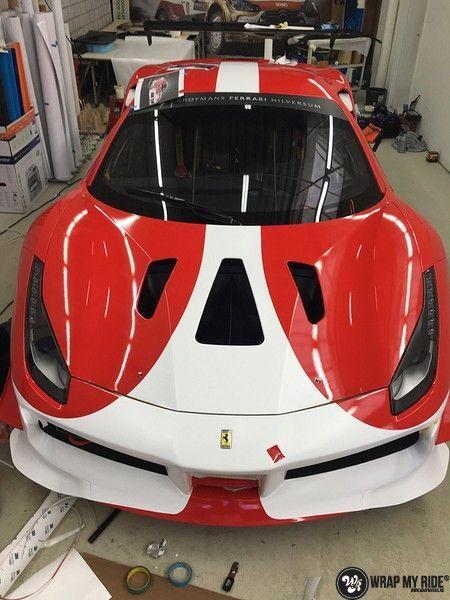 Ferrari 488 gtb the challenge wrap, Carwrapping door Wrapmyride.nu Foto-nr:11309, ©2021