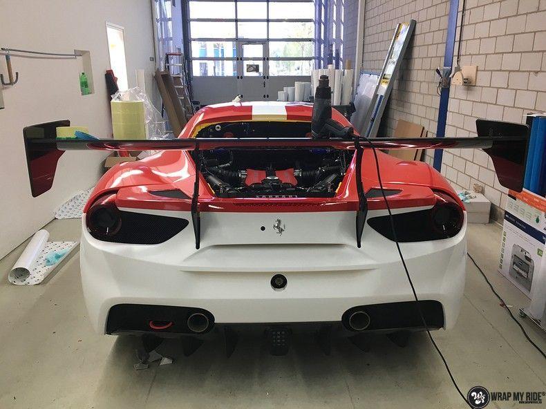 Ferrari 488 gtb the challenge wrap, Carwrapping door Wrapmyride.nu Foto-nr:11307, ©2021