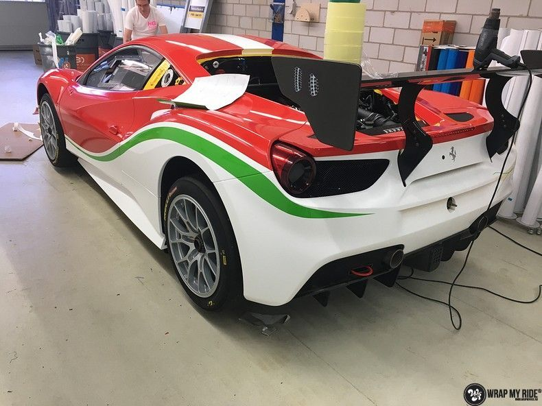 Ferrari 488 gtb the challenge wrap, Carwrapping door Wrapmyride.nu Foto-nr:11305, ©2021