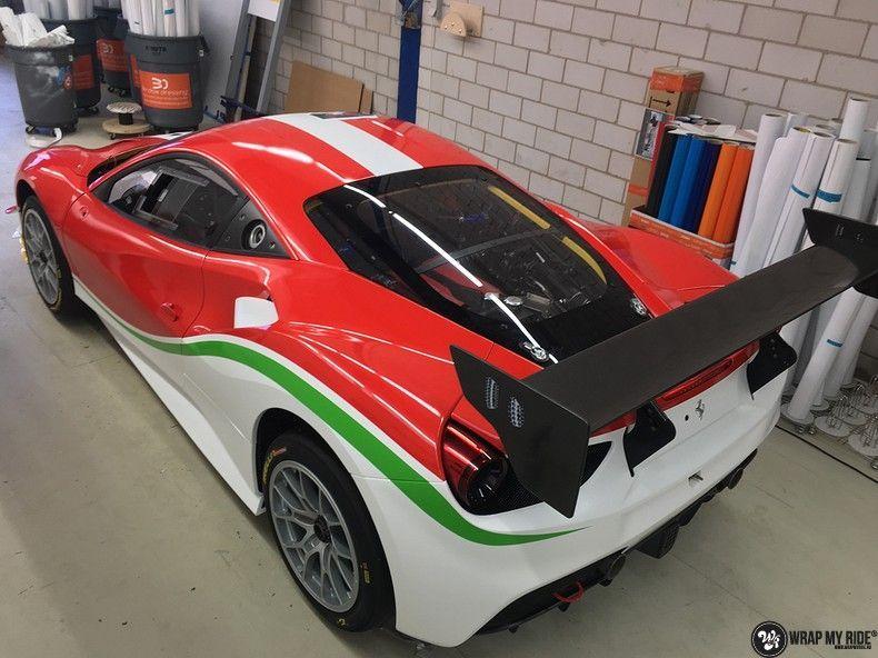 Ferrari 488 gtb the challenge wrap, Carwrapping door Wrapmyride.nu Foto-nr:11304, ©2021
