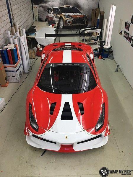 Ferrari 488 gtb the challenge wrap, Carwrapping door Wrapmyride.nu Foto-nr:11297, ©2021