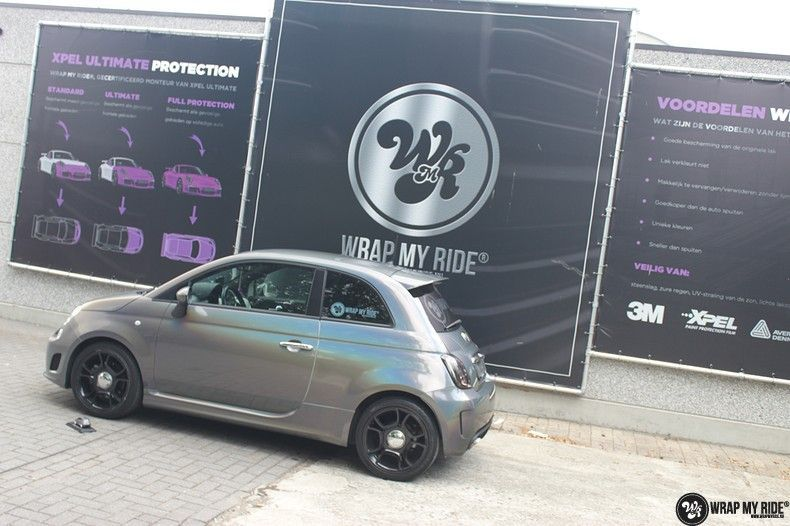 Fiat Abarth 3M gloss Psychedelic Flip, Carwrapping door Wrapmyride.nu Foto-nr:11685, ©2021