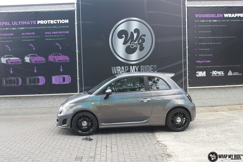 Fiat Abarth 3M gloss Psychedelic Flip, Carwrapping door Wrapmyride.nu Foto-nr:11684, ©2021
