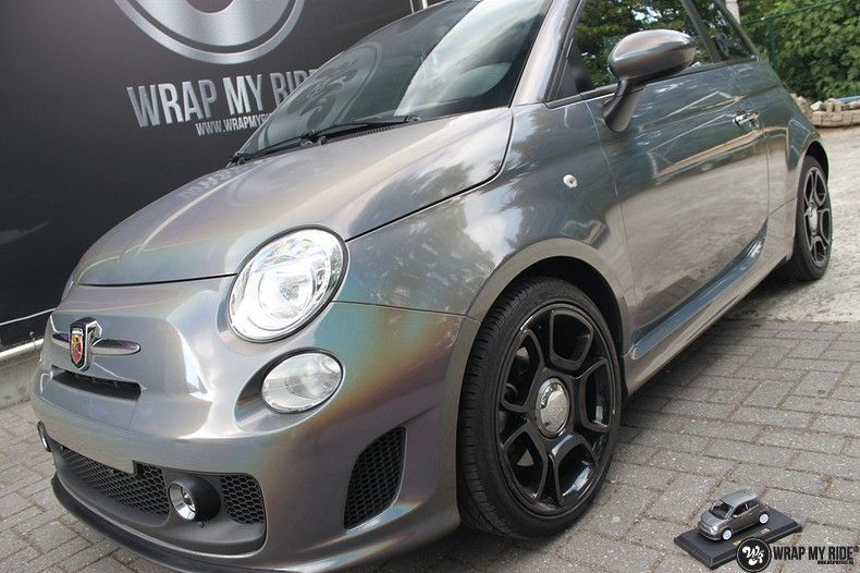 Fiat Abarth 3M gloss Psychedelic Flip, Carwrapping door Wrapmyride.nu Foto-nr:11682, ©2021