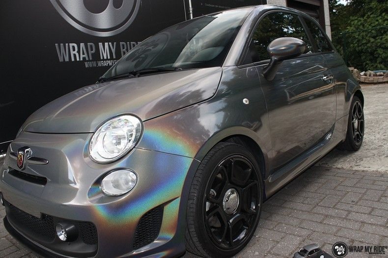 Fiat Abarth 3M gloss Psychedelic Flip, Carwrapping door Wrapmyride.nu Foto-nr:11681, ©2021