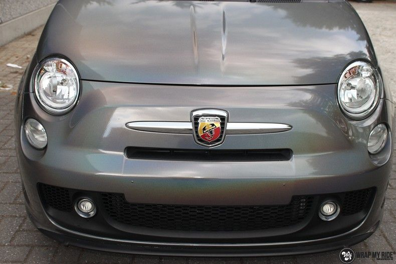 Fiat Abarth 3M gloss Psychedelic Flip, Carwrapping door Wrapmyride.nu Foto-nr:11680, ©2021