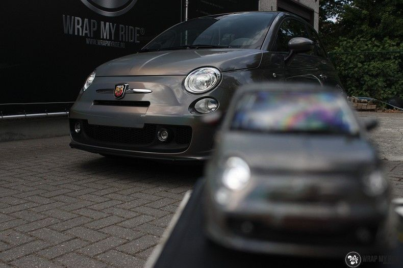 Fiat Abarth 3M gloss Psychedelic Flip, Carwrapping door Wrapmyride.nu Foto-nr:11673, ©2021