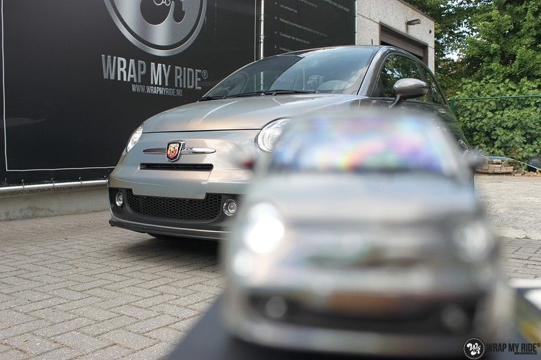 Fiat Abarth 3M gloss Psychedelic Flip, Carwrapping door Wrapmyride.nu Foto-nr:11672, ©2021