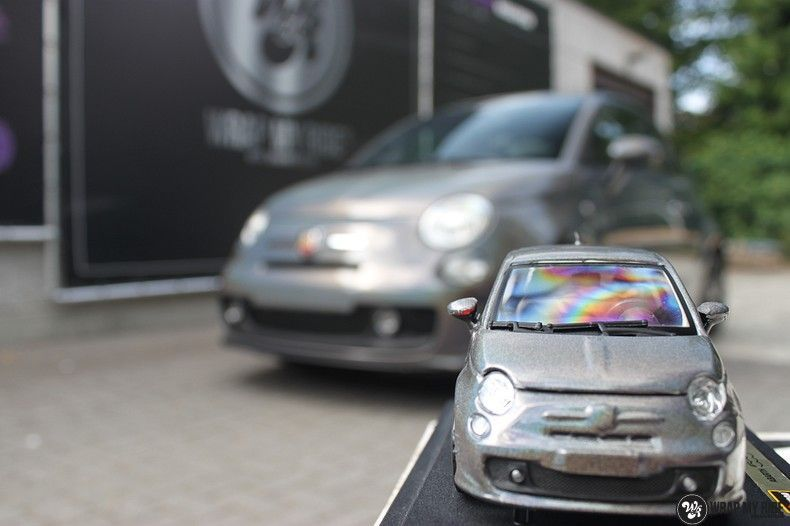 Fiat Abarth 3M gloss Psychedelic Flip, Carwrapping door Wrapmyride.nu Foto-nr:11671, ©2021