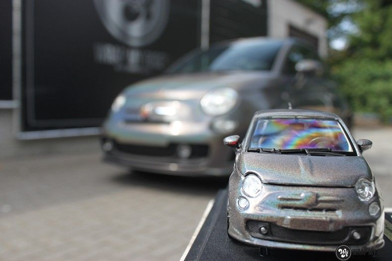 Fiat Abarth 3M gloss Psychedelic Flip, Carwrapping door Wrapmyride.nu Foto-nr:11668, ©2021