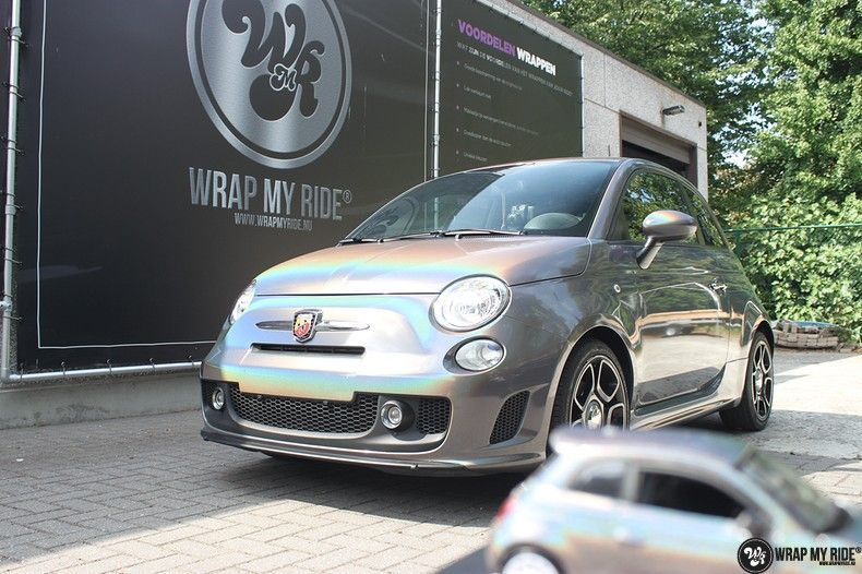 Fiat Abarth 3M gloss Psychedelic Flip, Carwrapping door Wrapmyride.nu Foto-nr:11666, ©2021