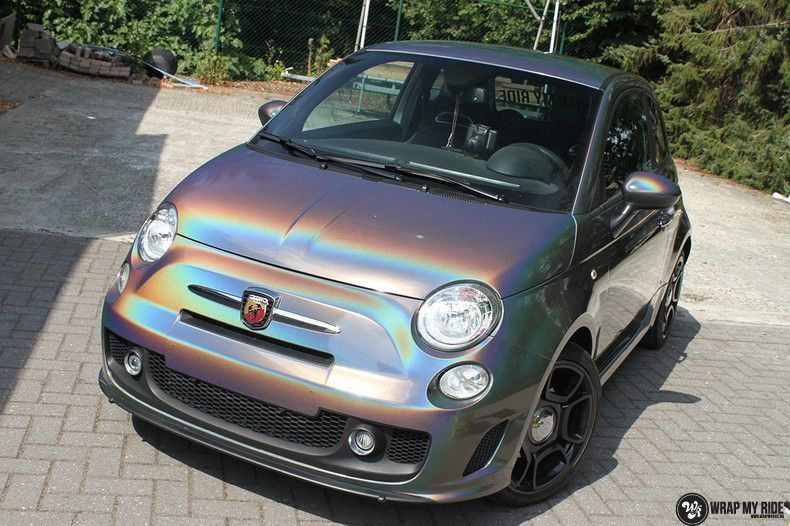 Fiat Abarth 3M gloss Psychedelic Flip, Carwrapping door Wrapmyride.nu Foto-nr:11663, ©2021