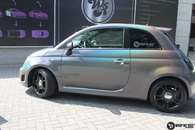 Fiat Abarth 3M gloss Psychedelic Flip, Carwrapping door Wrapmyride.nu Foto-nr:11662, ©2021
