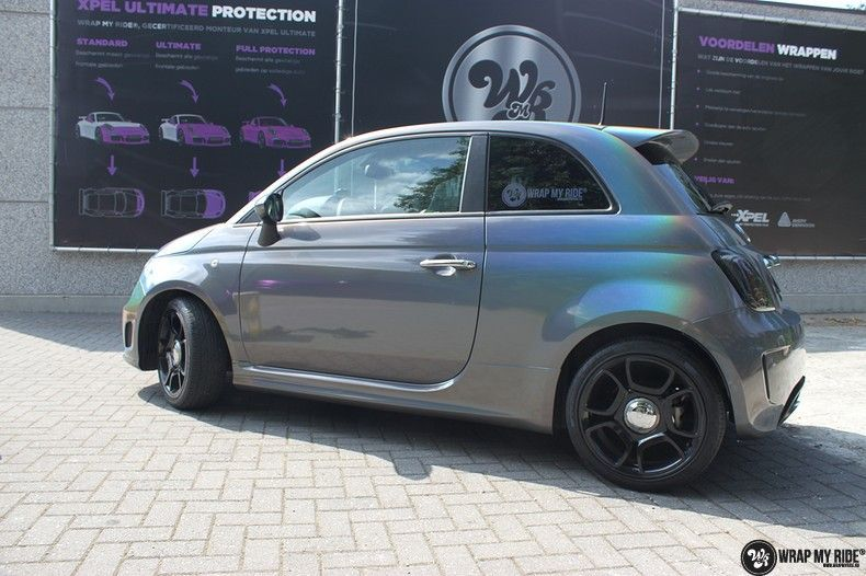Fiat Abarth 3M gloss Psychedelic Flip, Carwrapping door Wrapmyride.nu Foto-nr:11661, ©2021