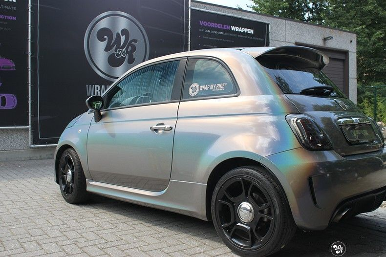 Fiat Abarth 3M gloss Psychedelic Flip, Carwrapping door Wrapmyride.nu Foto-nr:11659, ©2021