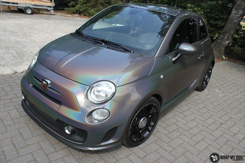 Fiat Abarth 3M gloss Psychedelic Flip, Carwrapping door Wrapmyride.nu Foto-nr:11658, ©2021