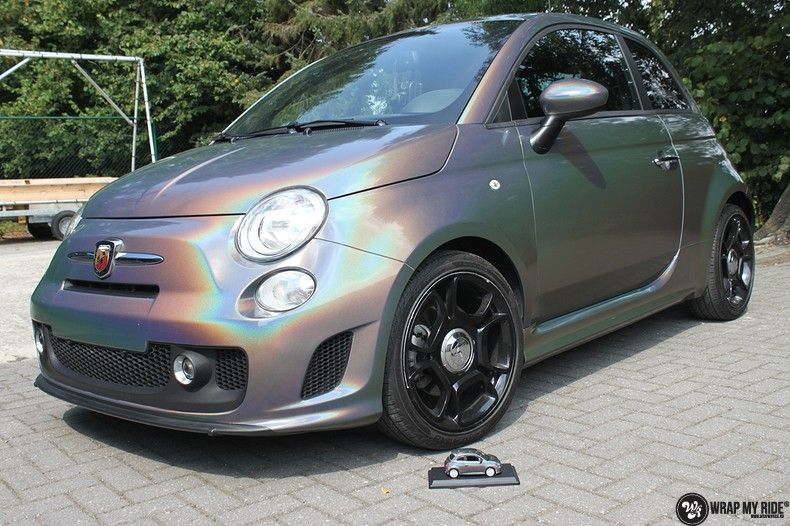 Fiat Abarth 3M gloss Psychedelic Flip, Carwrapping door Wrapmyride.nu Foto-nr:11657, ©2021
