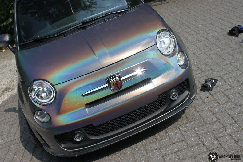 Fiat Abarth 3M gloss Psychedelic Flip, Carwrapping door Wrapmyride.nu Foto-nr:11656, ©2021