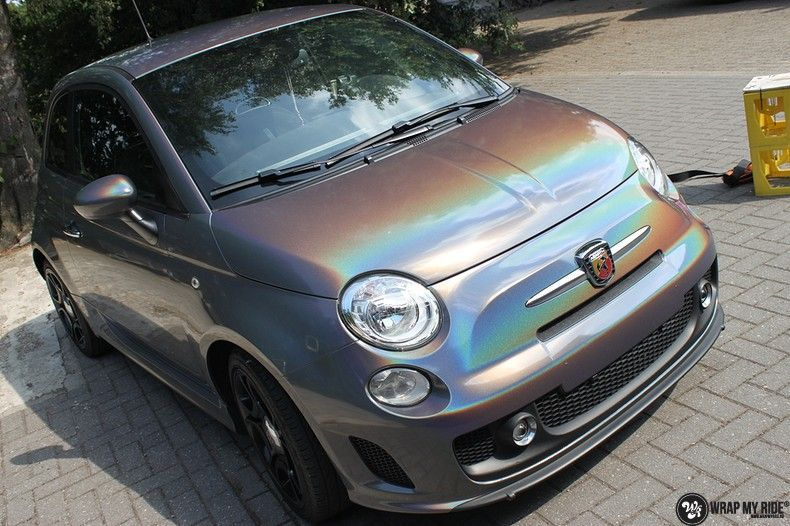Fiat Abarth 3M gloss Psychedelic Flip, Carwrapping door Wrapmyride.nu Foto-nr:11655, ©2021