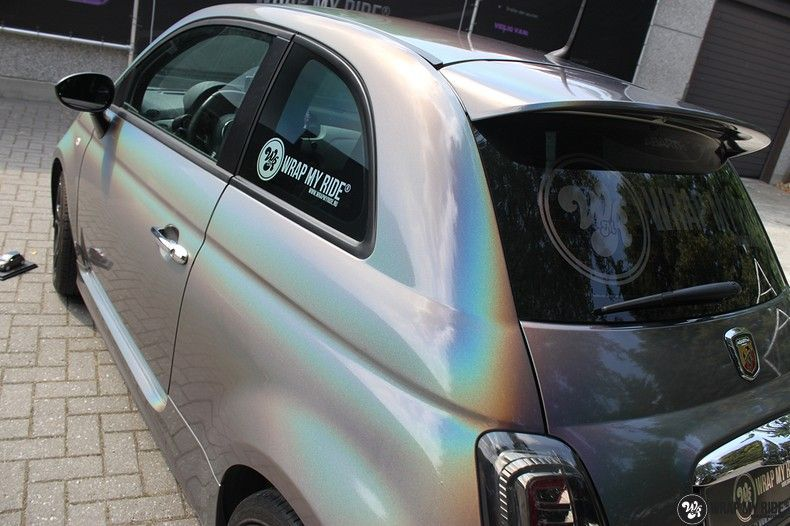 Fiat Abarth 3M gloss Psychedelic Flip, Carwrapping door Wrapmyride.nu Foto-nr:11652, ©2021