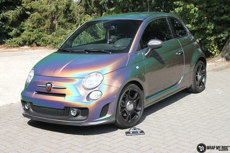 Fiat Abarth 3M gloss Psychedelic Flip, Carwrapping door Wrapmyride.nu Foto-nr:11651, ©2021