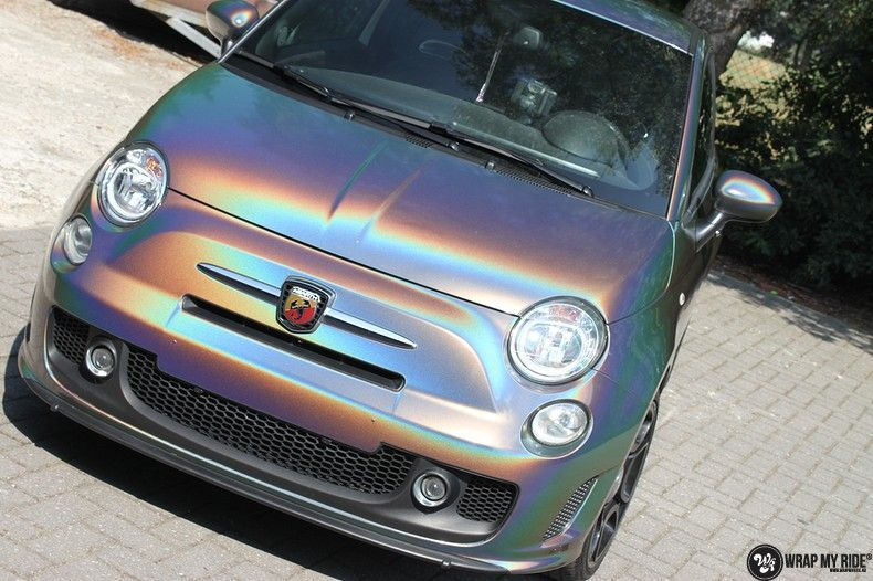 Fiat Abarth 3M gloss Psychedelic Flip, Carwrapping door Wrapmyride.nu Foto-nr:11650, ©2021