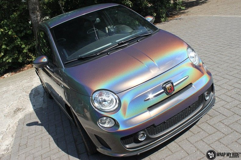 Fiat Abarth 3M gloss Psychedelic Flip, Carwrapping door Wrapmyride.nu Foto-nr:11649, ©2021