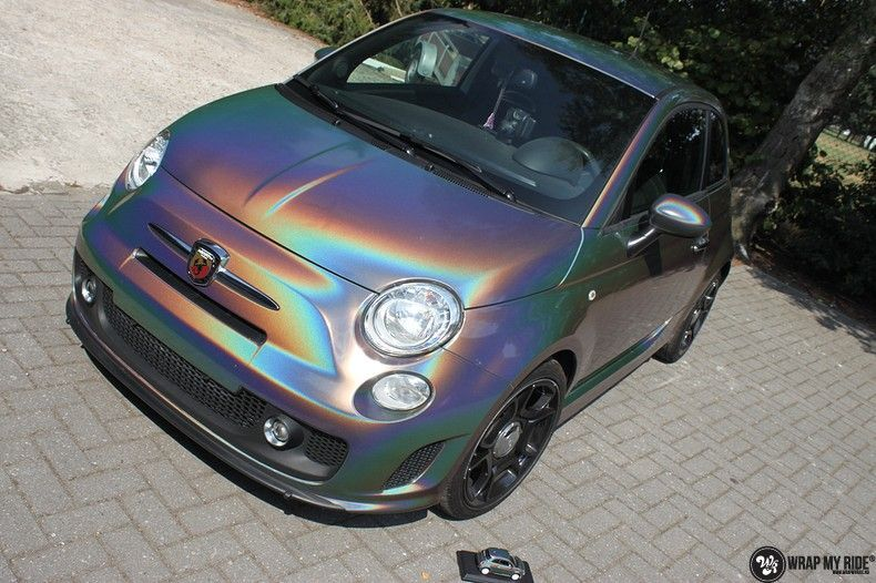 Fiat Abarth 3M gloss Psychedelic Flip, Carwrapping door Wrapmyride.nu Foto-nr:11648, ©2021