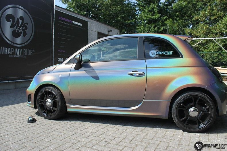 Fiat Abarth 3M gloss Psychedelic Flip, Carwrapping door Wrapmyride.nu Foto-nr:11647, ©2021
