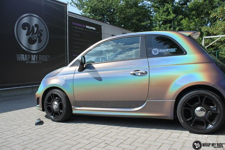 Fiat Abarth 3M gloss Psychedelic Flip, Carwrapping door Wrapmyride.nu Foto-nr:11646, ©2021