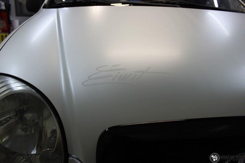 Hyundai Atos MR EIWIT, Carwrapping door Wrapmyride.nu Foto-nr:8730, ©2021