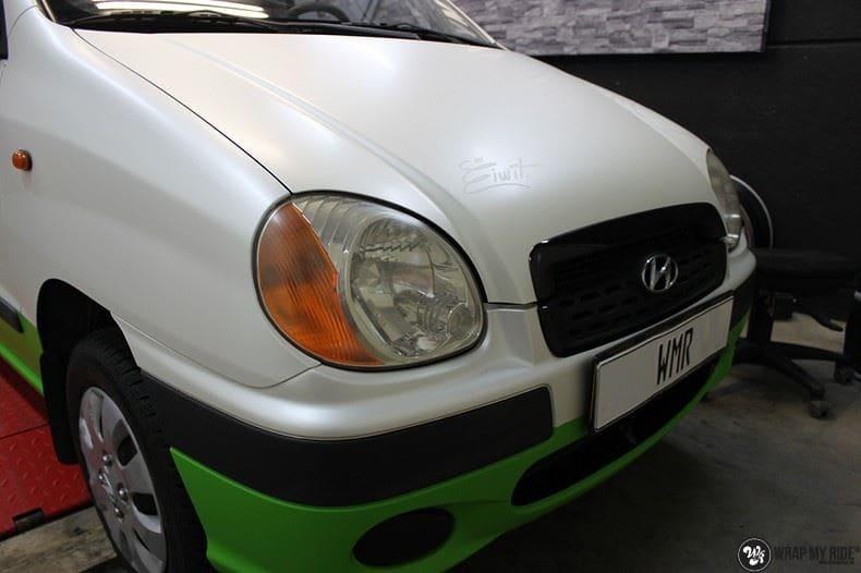 Hyundai Atos MR EIWIT, Carwrapping door Wrapmyride.nu Foto-nr:8729, ©2021