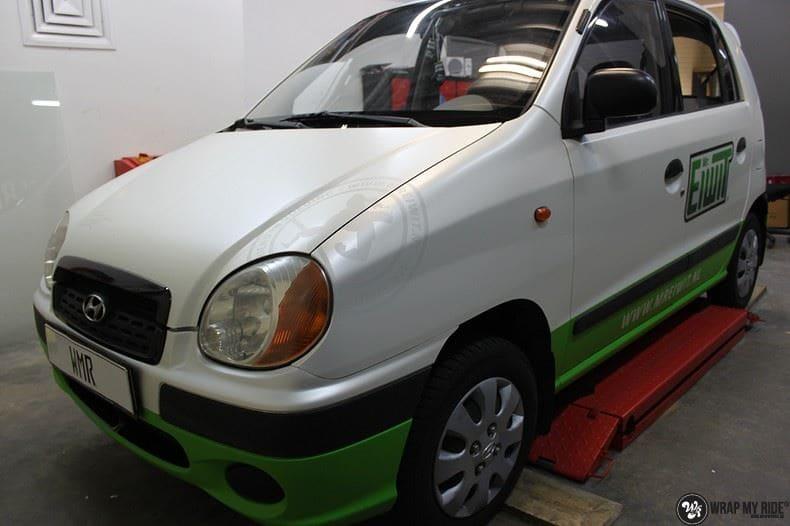Hyundai Atos MR EIWIT, Carwrapping door Wrapmyride.nu Foto-nr:8728, ©2021