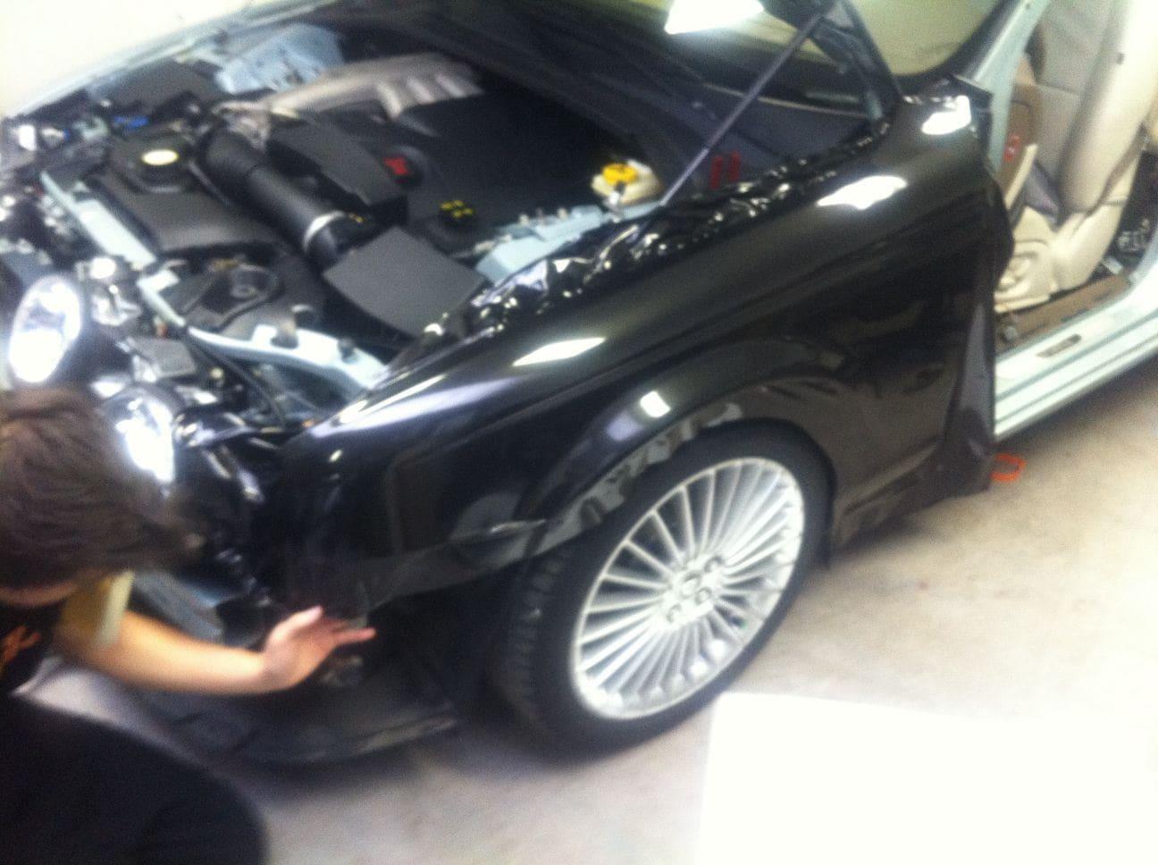 Jaguar S-type met Zwarte Metallic Wrap, Carwrapping door Wrapmyride.nu Foto-nr:5903, ©2021