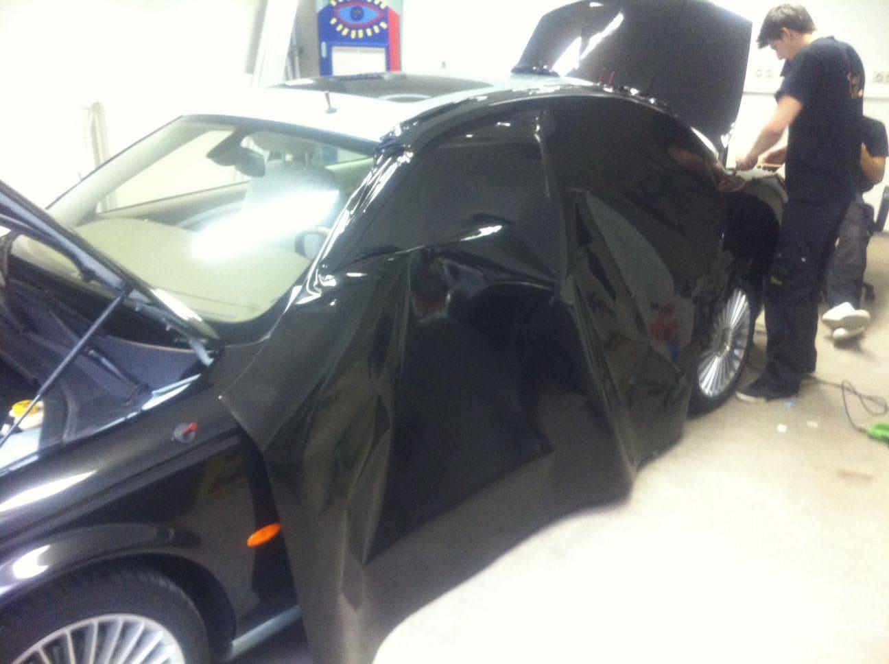 Jaguar S-type met Zwarte Metallic Wrap, Carwrapping door Wrapmyride.nu Foto-nr:5904, ©2021