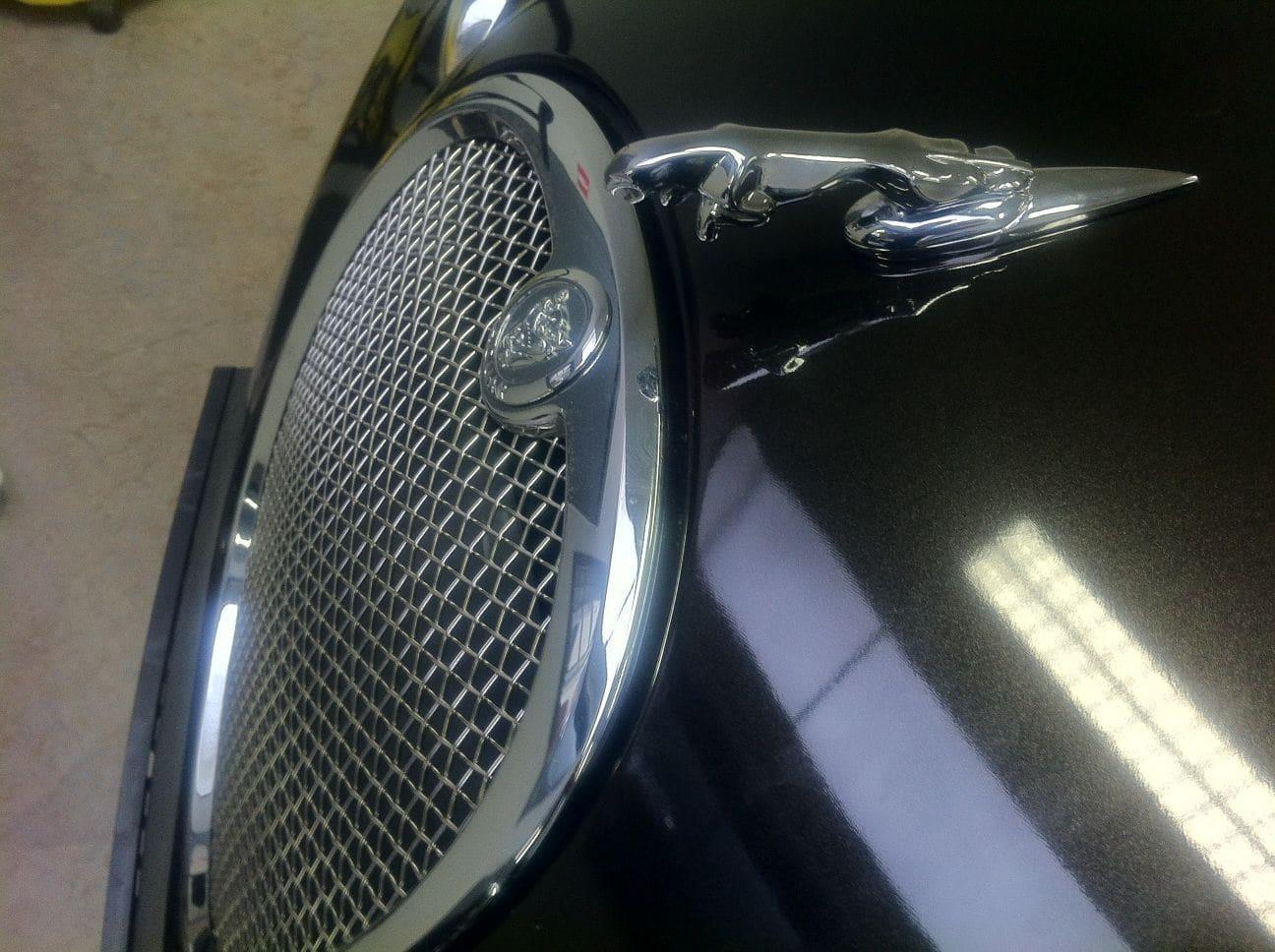 Jaguar S-type met Zwarte Metallic Wrap, Carwrapping door Wrapmyride.nu Foto-nr:5906, ©2021