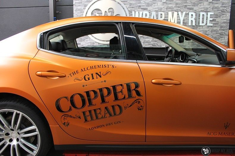 Maserati ghibli satin canyon copper, Carwrapping door Wrapmyride.nu Foto-nr:11579, ©2021