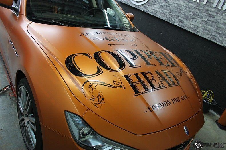 Maserati ghibli satin canyon copper, Carwrapping door Wrapmyride.nu Foto-nr:11582, ©2021