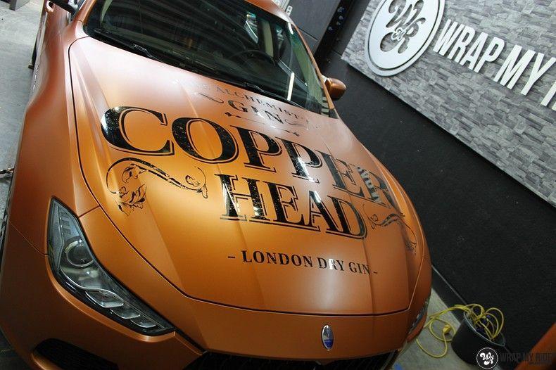 Maserati ghibli satin canyon copper, Carwrapping door Wrapmyride.nu Foto-nr:11583, ©2021