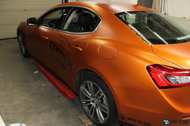 Maserati ghibli satin canyon copper, Carwrapping door Wrapmyride.nu Foto-nr:11586, ©2021