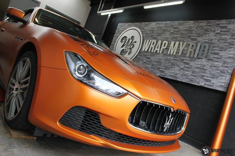 Maserati ghibli satin canyon copper, Carwrapping door Wrapmyride.nu Foto-nr:11591, ©2021
