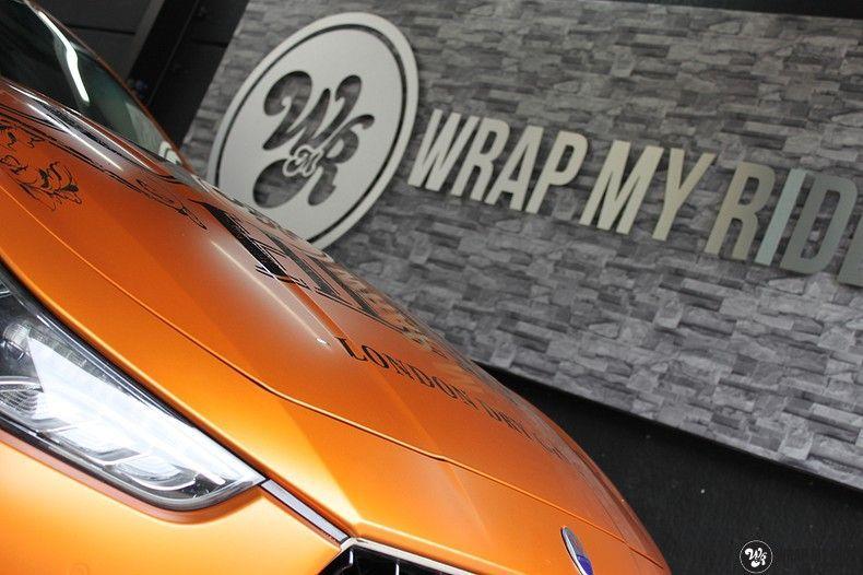 Maserati ghibli satin canyon copper, Carwrapping door Wrapmyride.nu Foto-nr:11592, ©2021