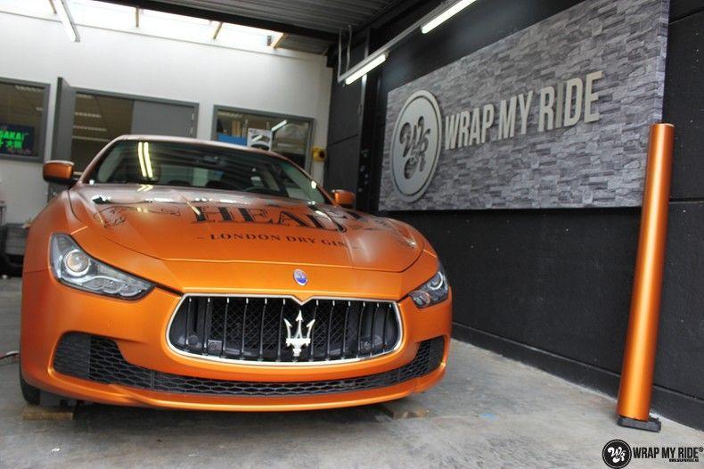 Maserati ghibli satin canyon copper, Carwrapping door Wrapmyride.nu Foto-nr:11593, ©2021