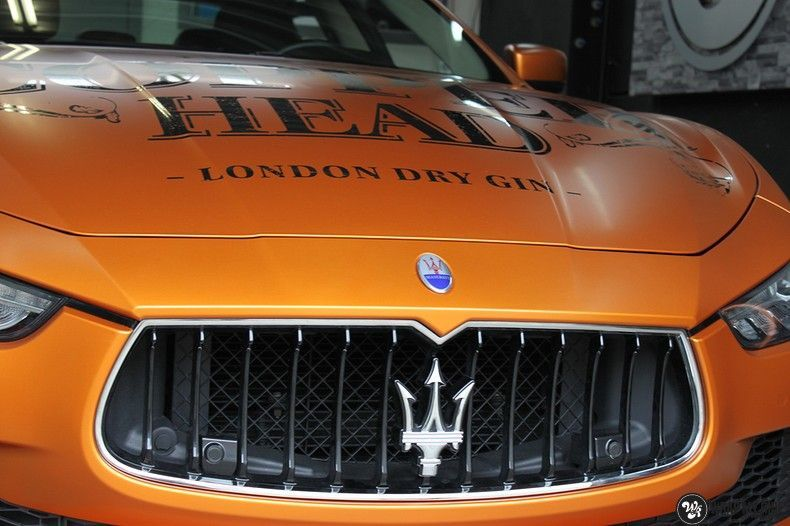 Maserati ghibli satin canyon copper, Carwrapping door Wrapmyride.nu Foto-nr:11594, ©2021